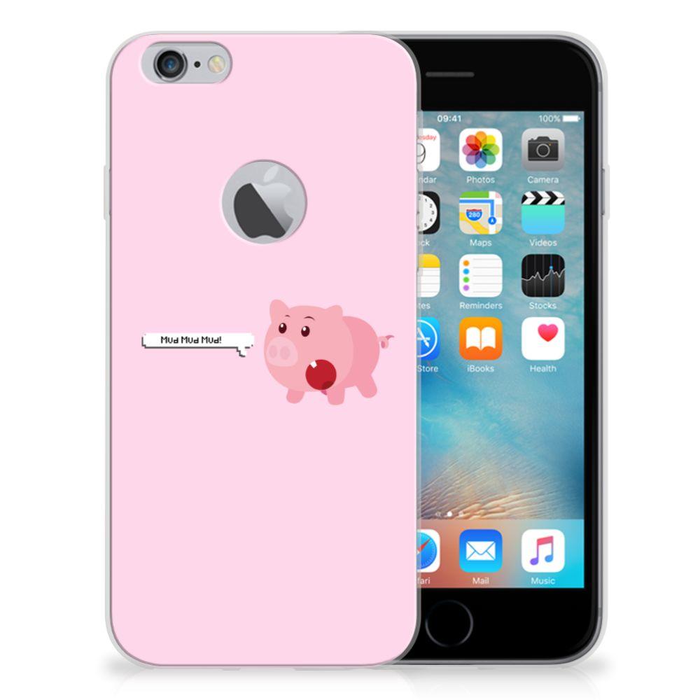 Apple iPhone 6 Plus | 6s Plus Telefoonhoesje met Naam Pig Mud