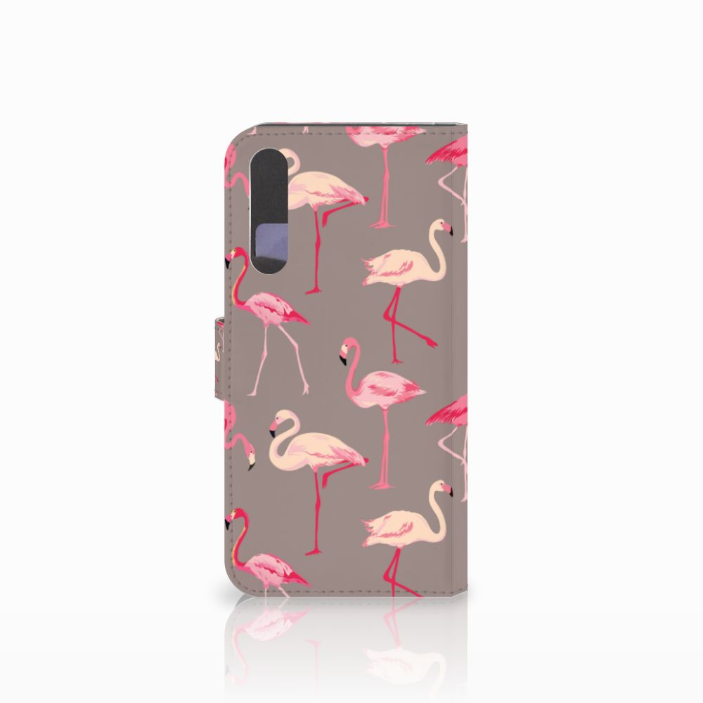 Huawei P20 Pro Telefoonhoesje met Pasjes Flamingo