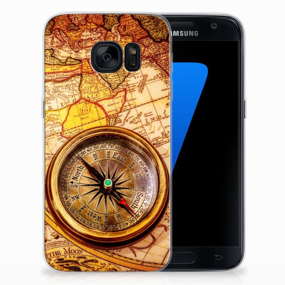 Samsung Galaxy S7 Siliconen Back Cover Kompas