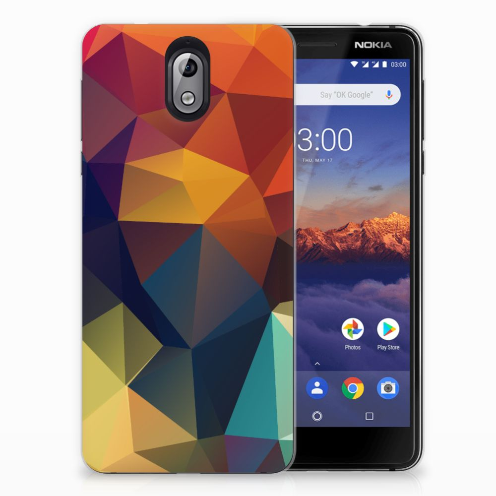 Nokia 3.1 (2018) TPU Hoesje Polygon Color
