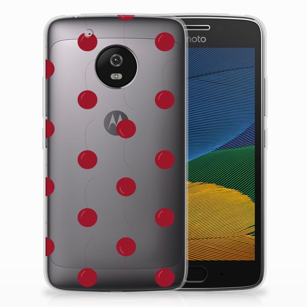 Motorola Moto G5 Siliconen Case Cherries
