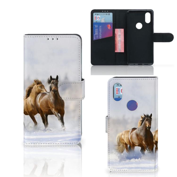 Xiaomi Mi Mix 2s Telefoonhoesje met Pasjes Paarden
