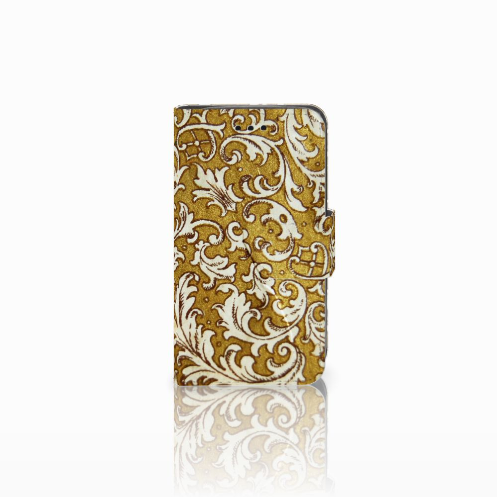 Samsung Galaxy Trend 2 Boekhoesje Design Barok Goud