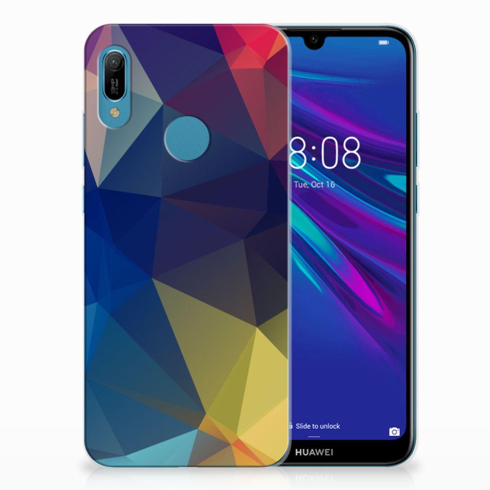 Huawei Y6 2019 | Y6 Pro 2019 TPU Hoesje Polygon Dark