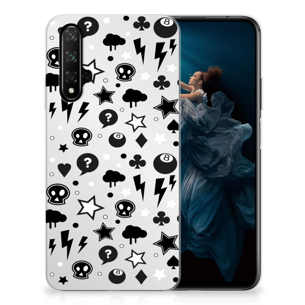 Silicone Back Case Honor 20 Silver Punk