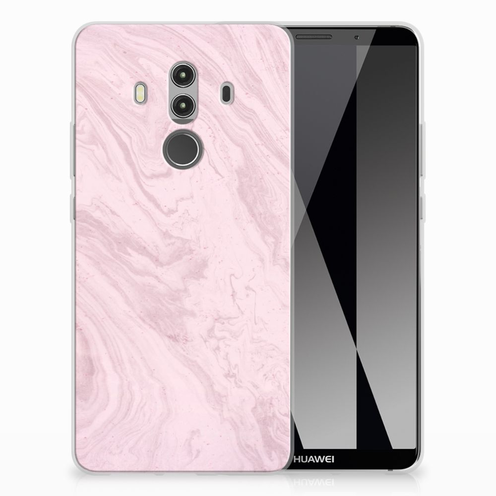 Huawei Mate 10 Pro TPU Siliconen Hoesje Marble Pink