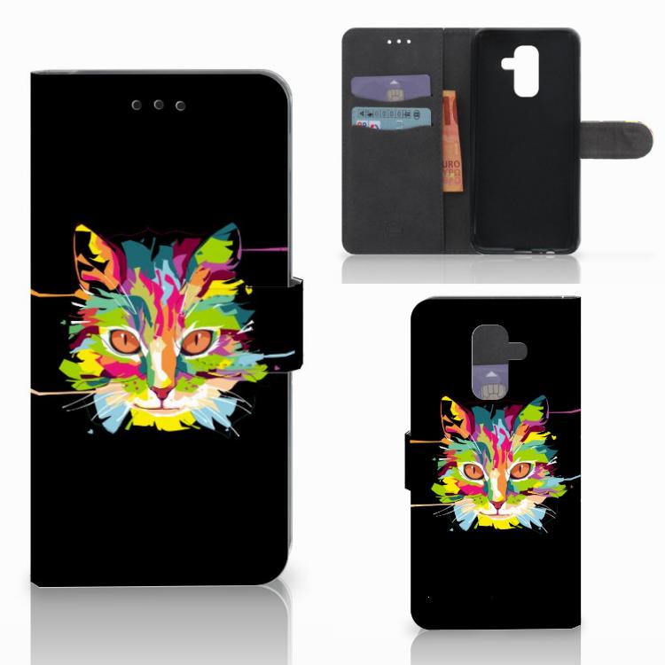 Samsung Galaxy A6 Plus 2018 Leuke Hoesje Cat Color