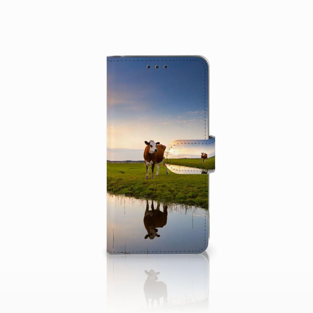 Samsung Galaxy A8 2018 Boekhoesje Design Koe