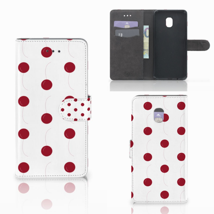 Samsung Galaxy J7 (2018) Book Cover Cherries