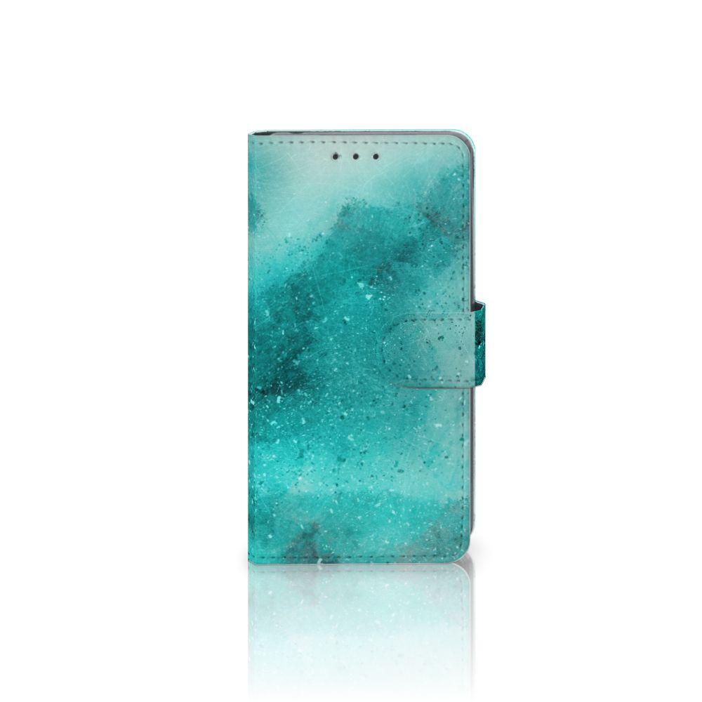 Sony Xperia Z2 Uniek Boekhoesje Painting Blue