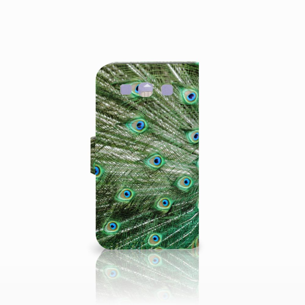 Samsung Galaxy S3 i9300 Telefoonhoesje met Pasjes Pauw