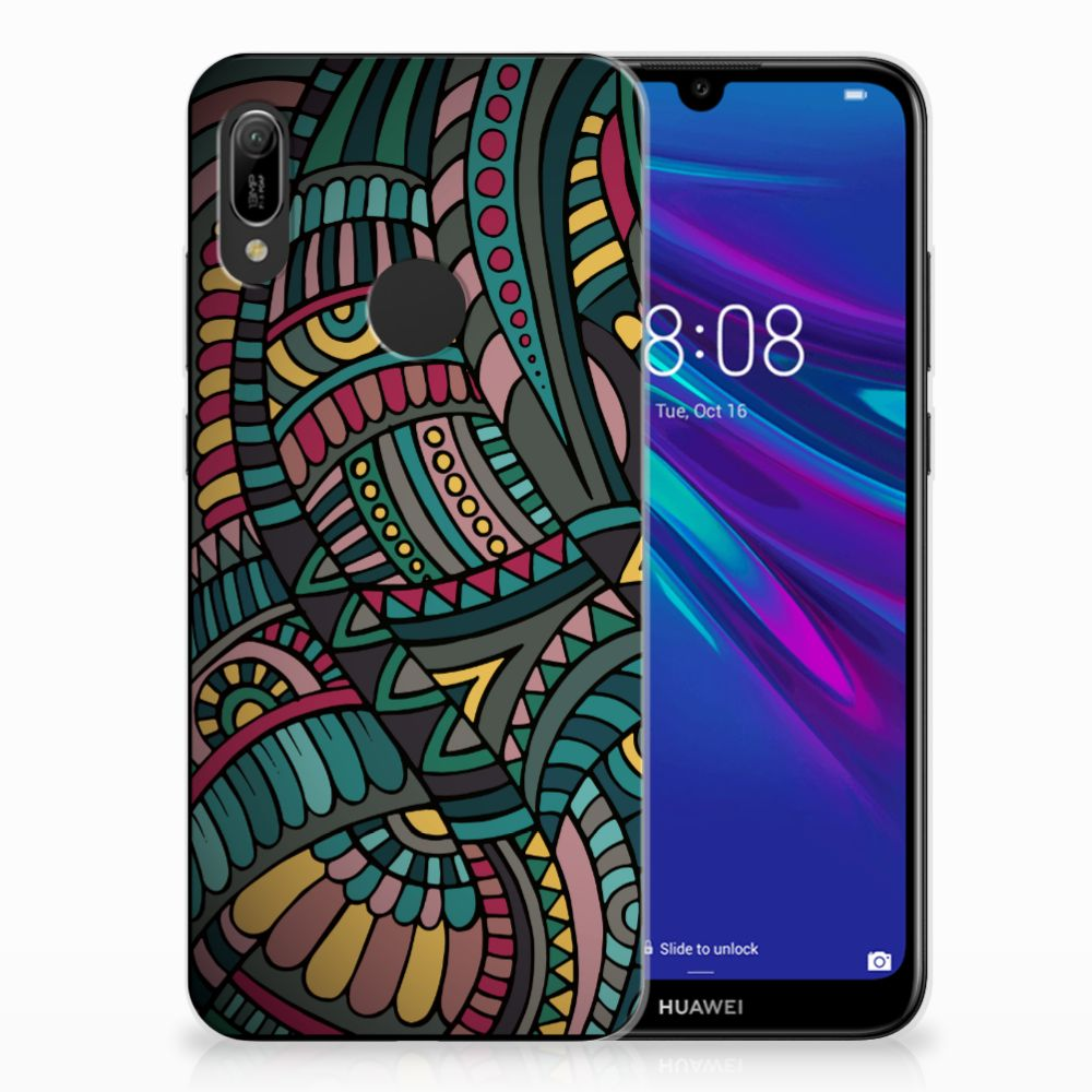 Huawei Y6 2019 | Y6 Pro 2019 TPU Hoesje Design Aztec
