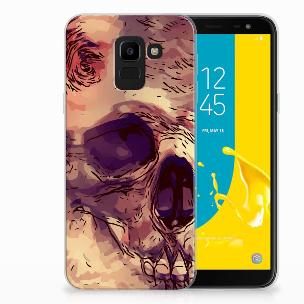 Samsung Galaxy J6 2018 Uniek TPU Hoesje Skullhead