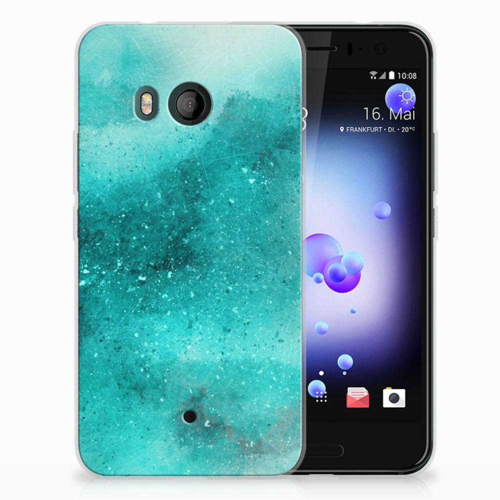 HTC U11 Uniek TPU Hoesje Painting Blue