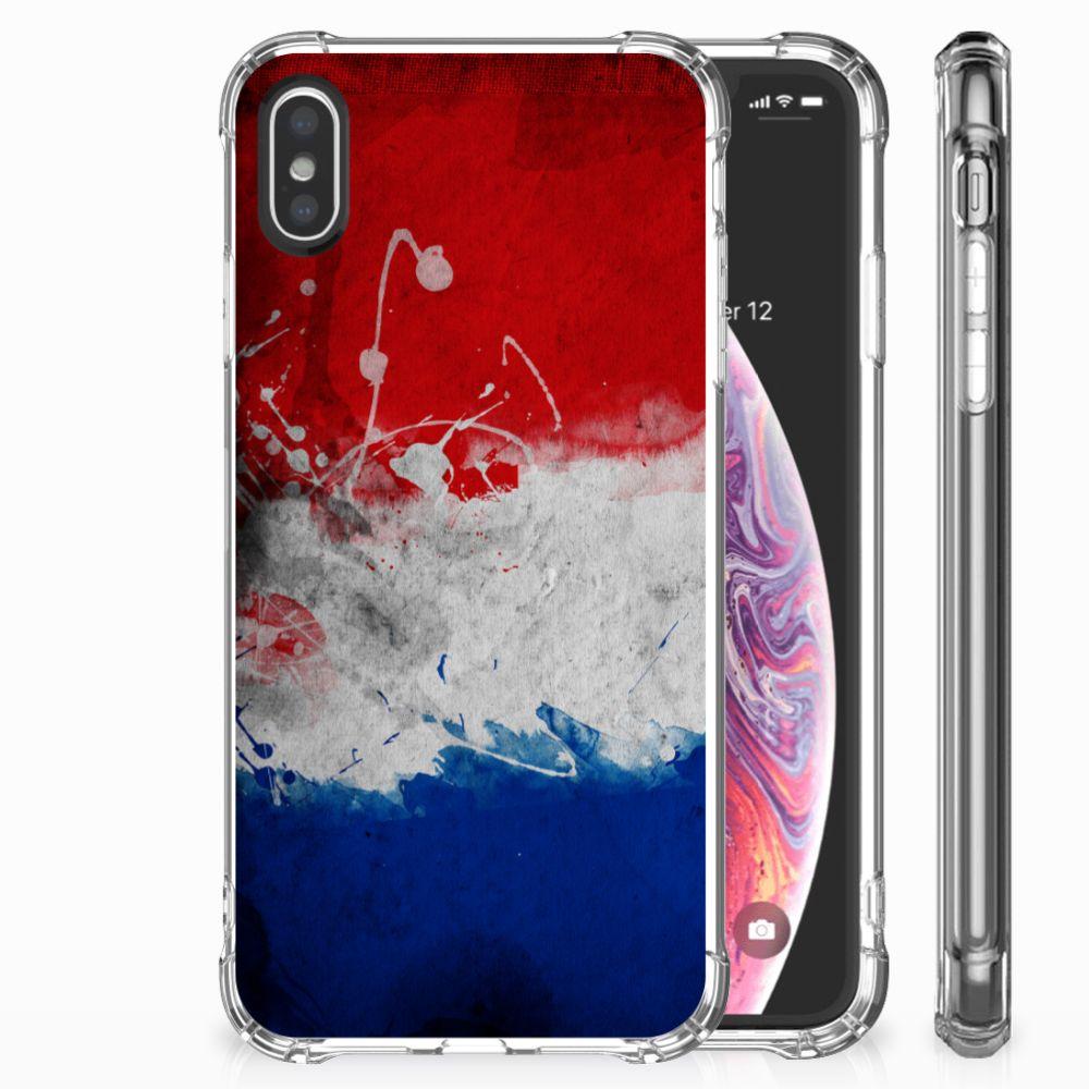 Apple iPhone X | Xs Uniek TPU Hoesje Nederlandse Vlag