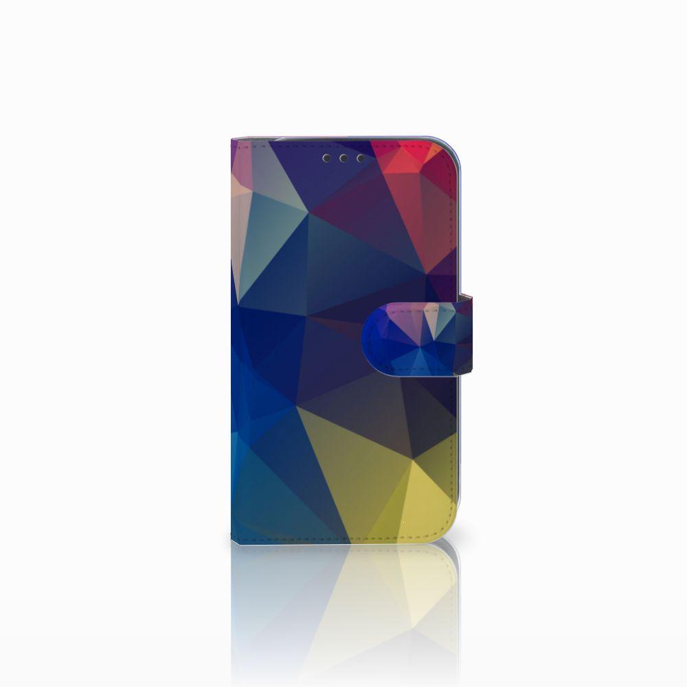 Samsung Galaxy Xcover 4 Uniek Boekhoesje Polygon Dark