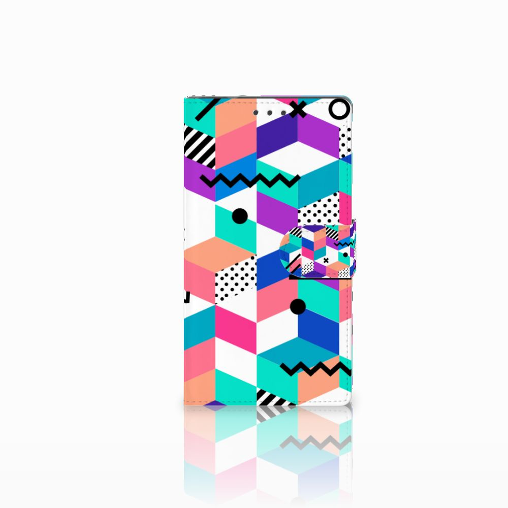 Samsung Galaxy Note 4 Boekhoesje Design Blocks Colorful