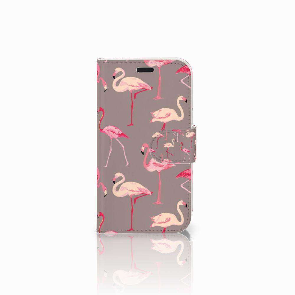 LG L Fino Uniek Boekhoesje Flamingo