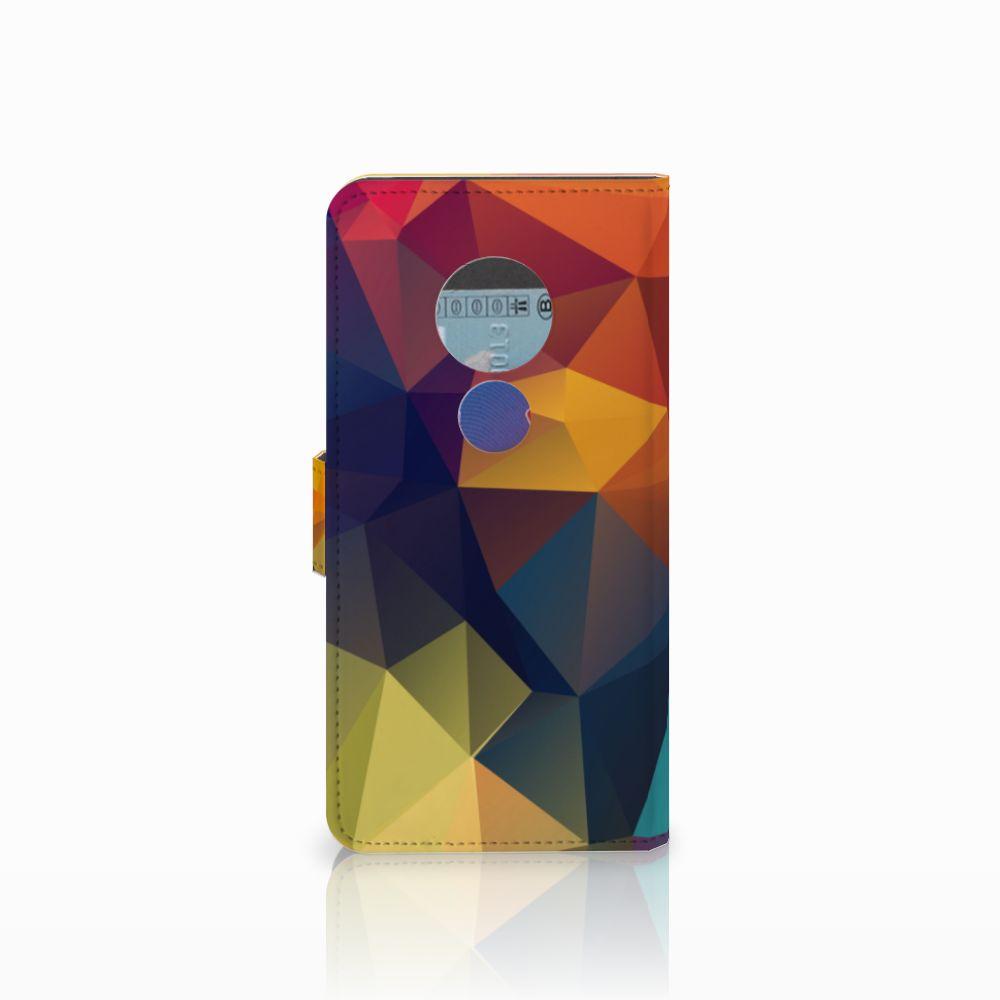 Motorola Moto E5 Bookcase Polygon Color
