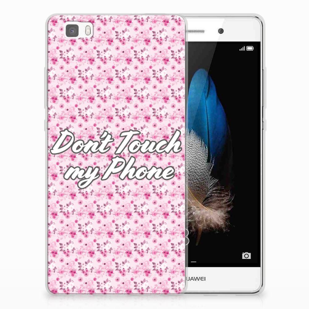 Huawei Ascend P8 Lite Uniek TPU Hoesje Flowers Pink DTMP
