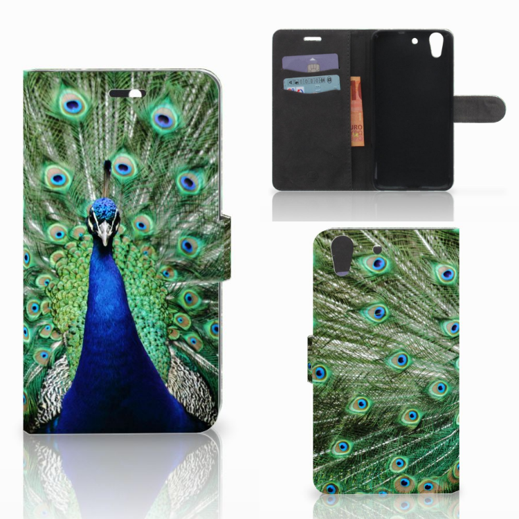 Huawei Y6 II | Honor 5A Telefoonhoesje met Pasjes Pauw