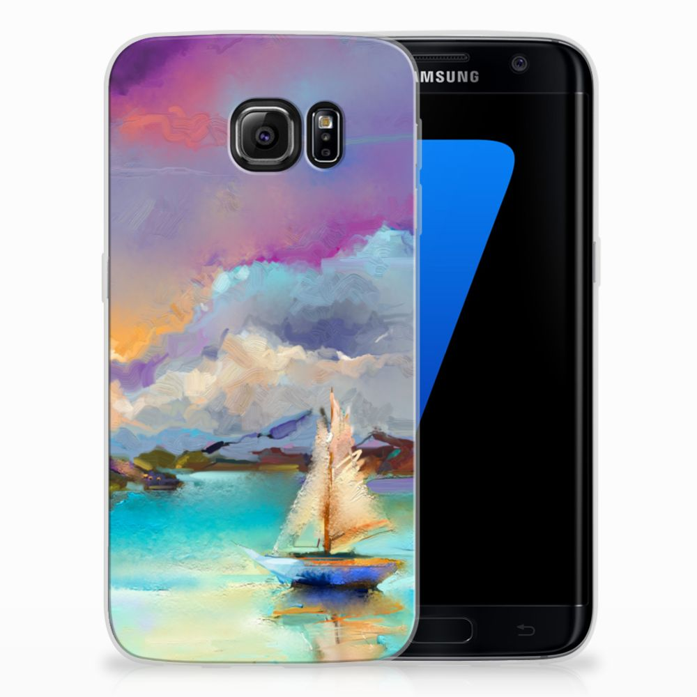 Samsung Galaxy S7 Edge Uniek TPU Hoesje Boat