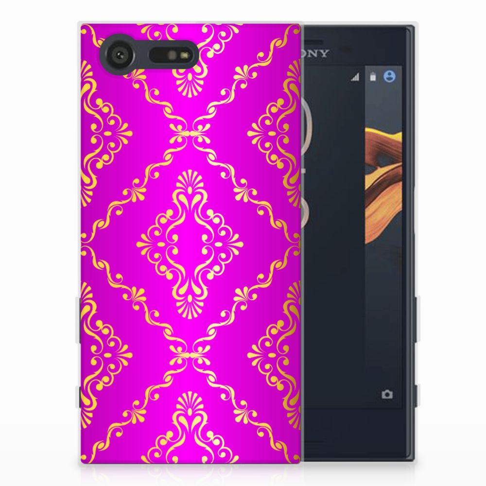 Siliconen Hoesje Sony Xperia X Compact Barok Roze
