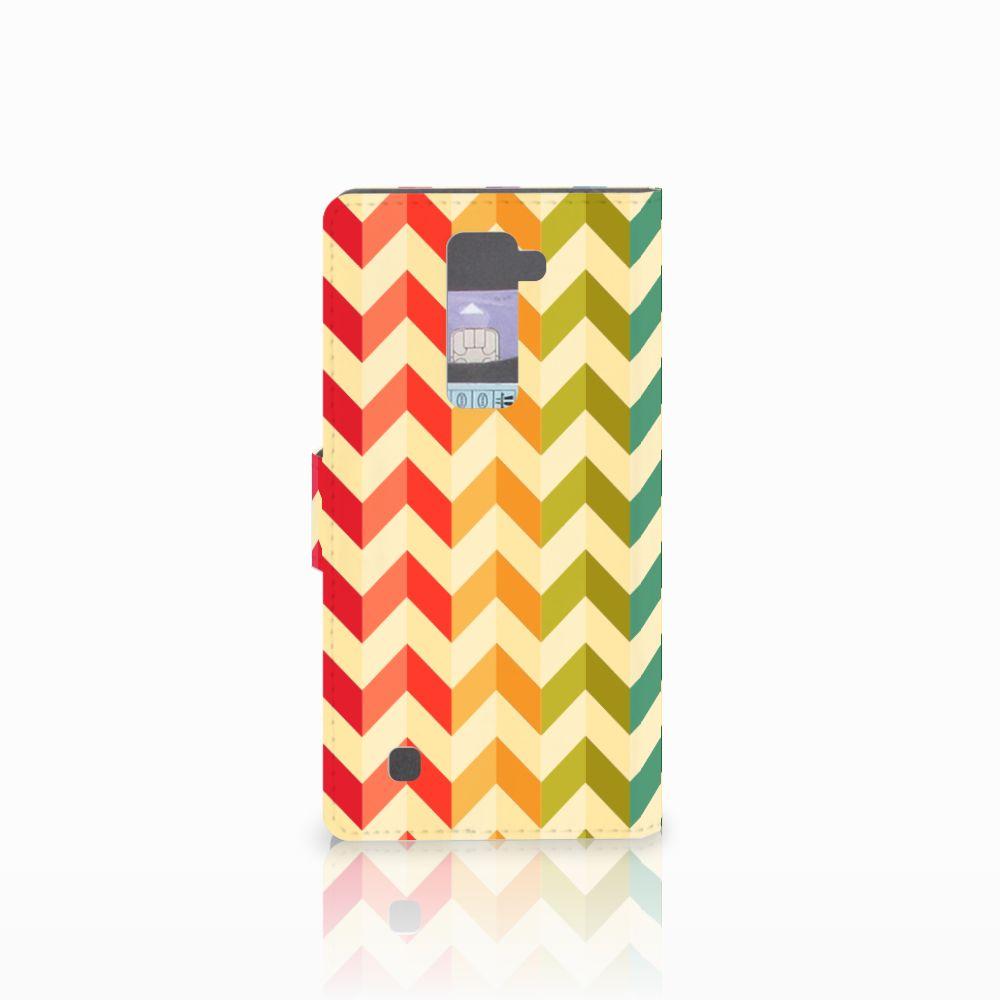 LG K10 2015 Telefoon Hoesje Zigzag Multi Color
