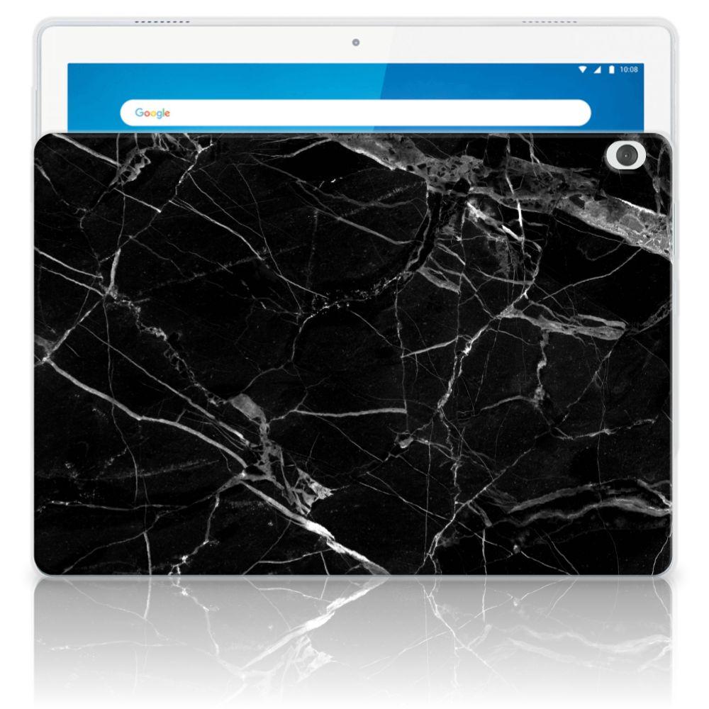Lenovo Tab M10 Tablet Back Cover Marmer Zwart - Origineel Cadeau Vader