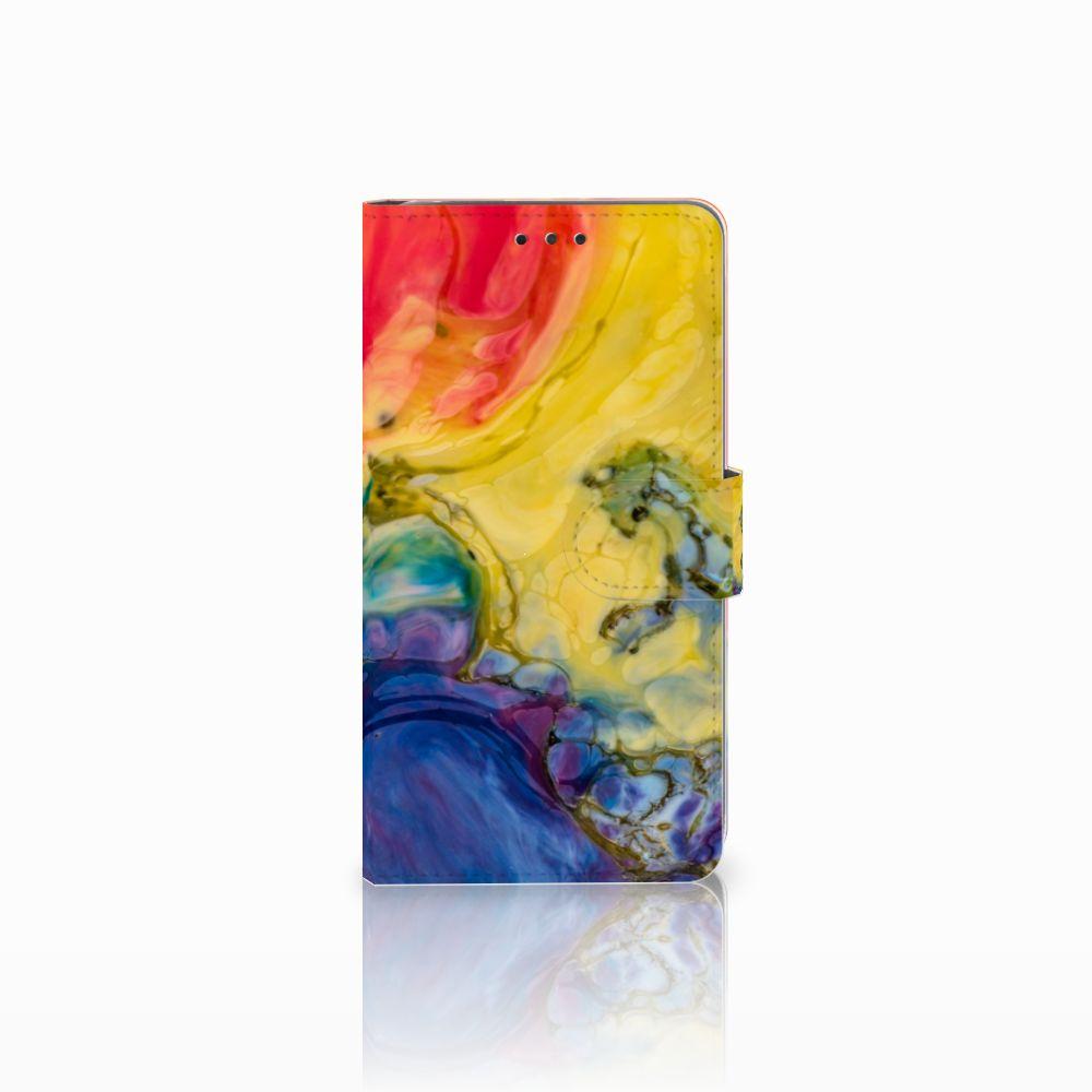 LG G4 Uniek Boekhoesje Watercolor Dark