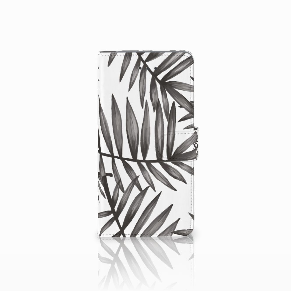 Samsung Galaxy J7 (2018) Uniek Boekhoesje Leaves Grey