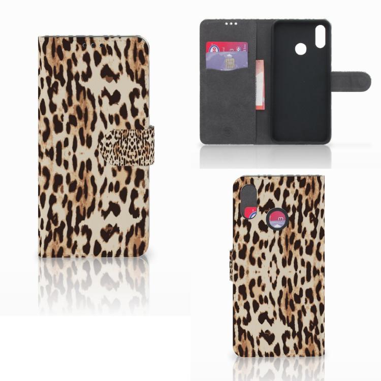 Huawei P Smart Plus Telefoonhoesje met Pasjes Leopard