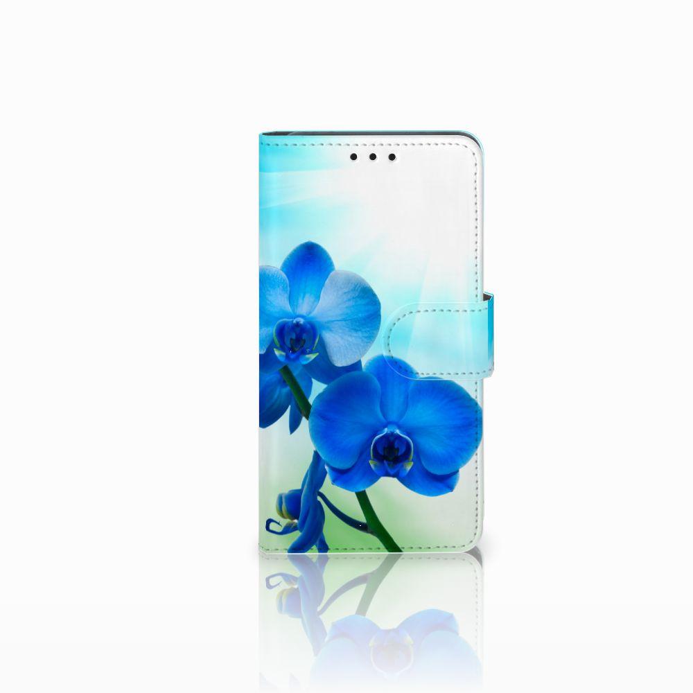 Huawei Y6 Pro 2017 Boekhoesje Design Orchidee Blauw