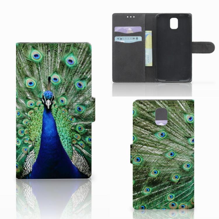 Samsung Galaxy Note 3 Telefoonhoesje met Pasjes Pauw