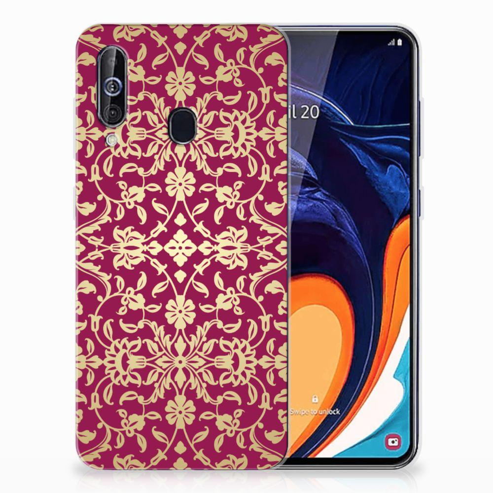 Siliconen Hoesje Samsung Galaxy A60 Barok Pink