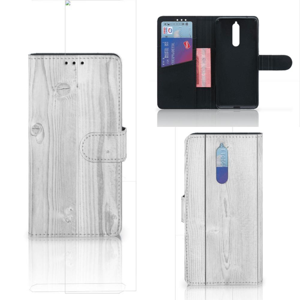 Nokia 8 Boekhoesje Design White Tree