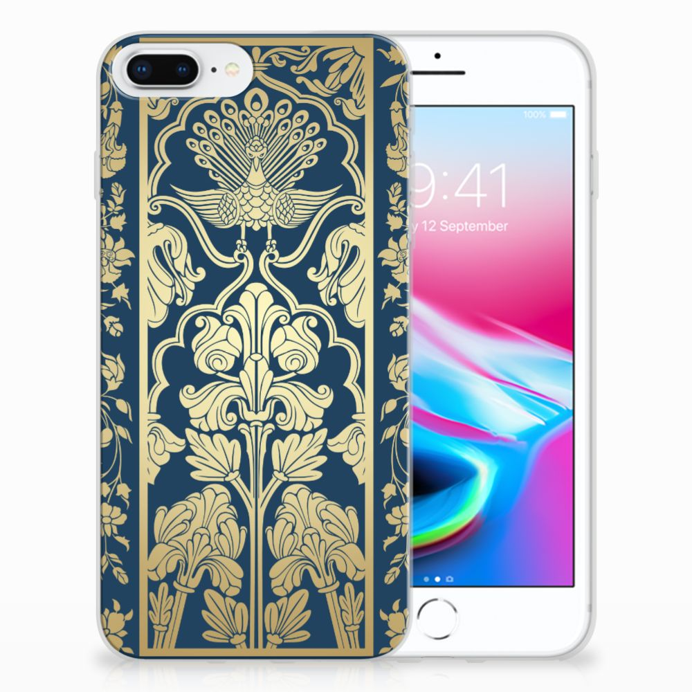 Apple iPhone 7 Plus | 8 Plus TPU Hoesje Golden Flowers