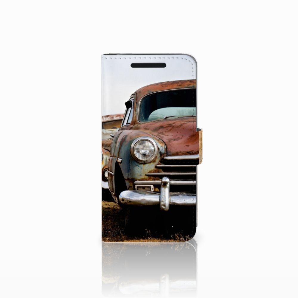 HTC One M9 Telefoonhoesje met foto Vintage Auto