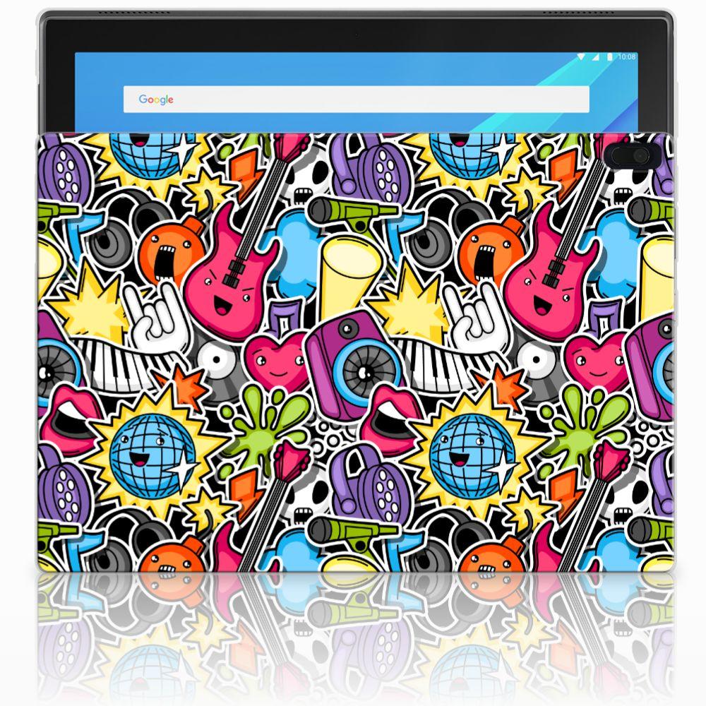 Lenovo Tab 4 10.1 Leuke Siliconen Hoes Punk Rock
