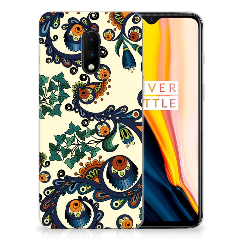 Siliconen Hoesje OnePlus 7 Barok Flower