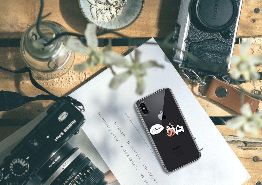 Apple iPhone X | Xs Telefoonhoesje met Naam Cow