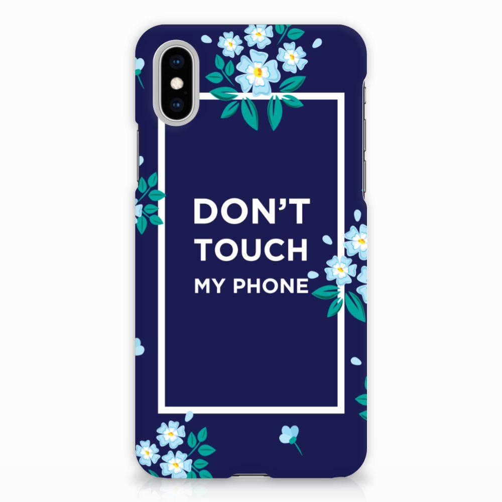 Apple iPhone X | Xs Hardcase Hoesje Flowers Blue DTMP