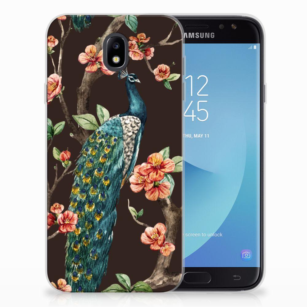Samsung Galaxy J7 2017 | J7 Pro TPU Hoesje Pauw met Bloemen