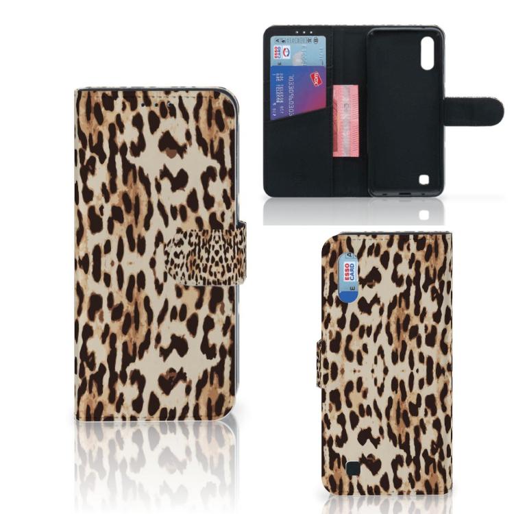 Samsung Galaxy M10 Telefoonhoesje met Pasjes Leopard