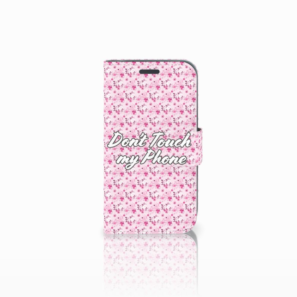 Samsung Galaxy J1 2016 Uniek Boekhoesje Flowers Pink DTMP