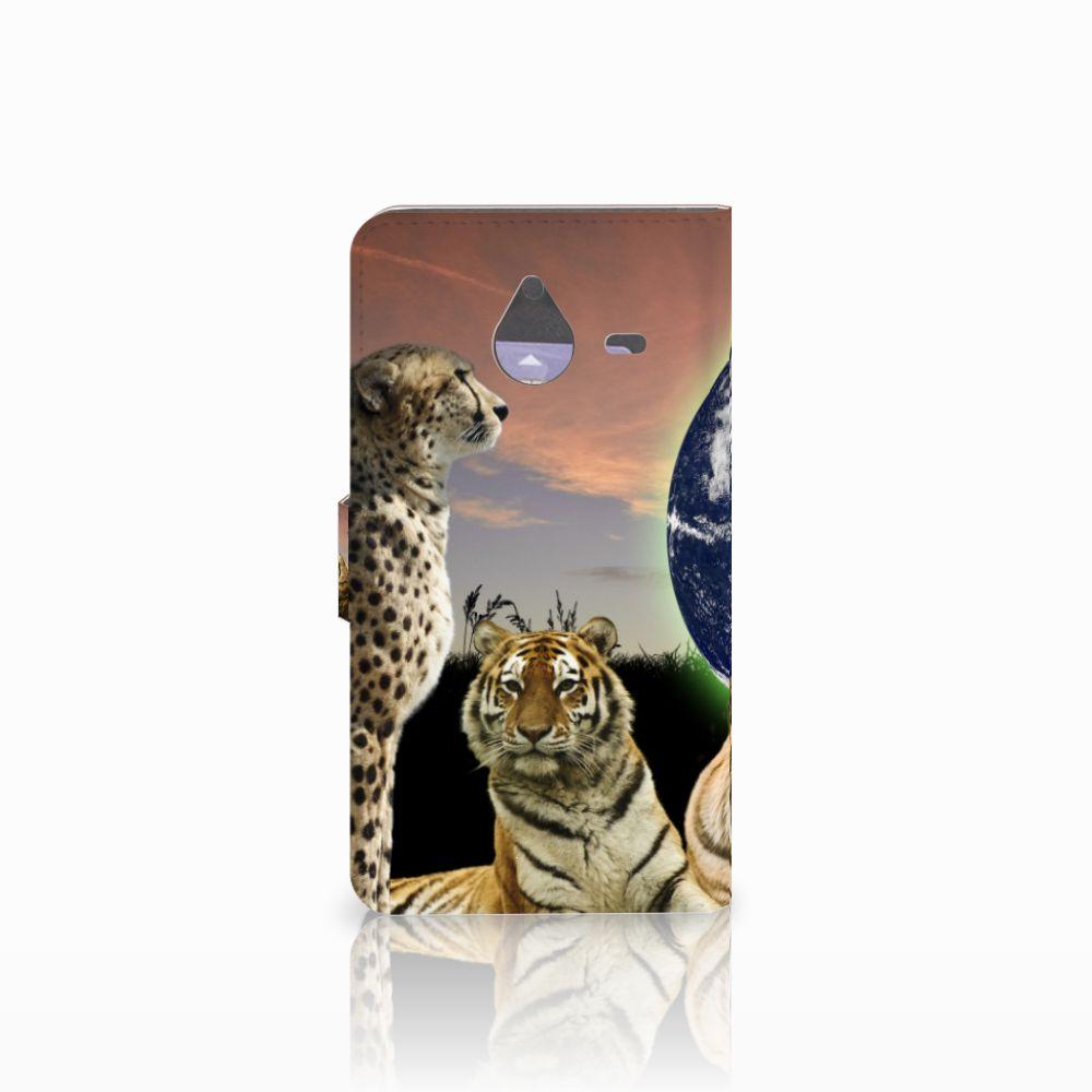 Microsoft Lumia 640 XL Telefoonhoesje met Pasjes Roofdieren