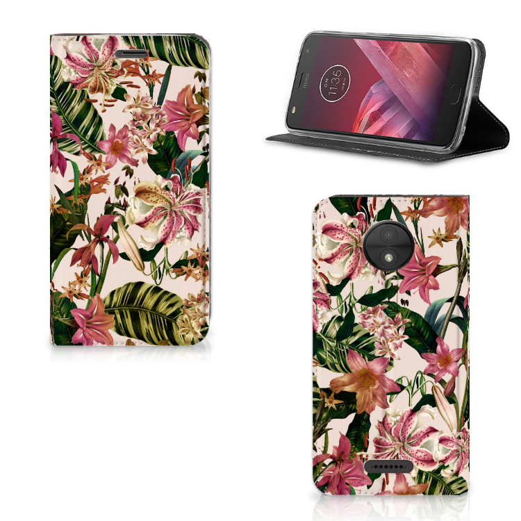 Motorola Moto C Smart Cover Flowers