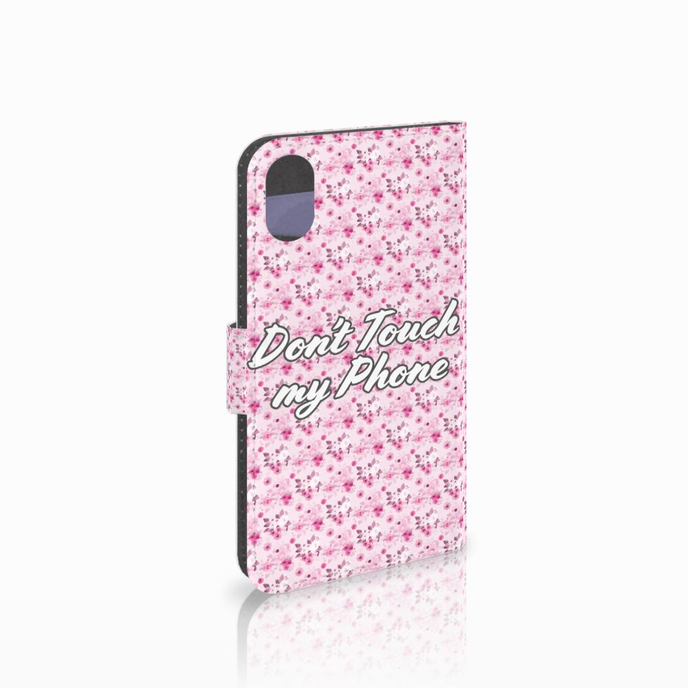 Apple iPhone X | Xs Uniek Boekhoesje Flowers Pink DTMP