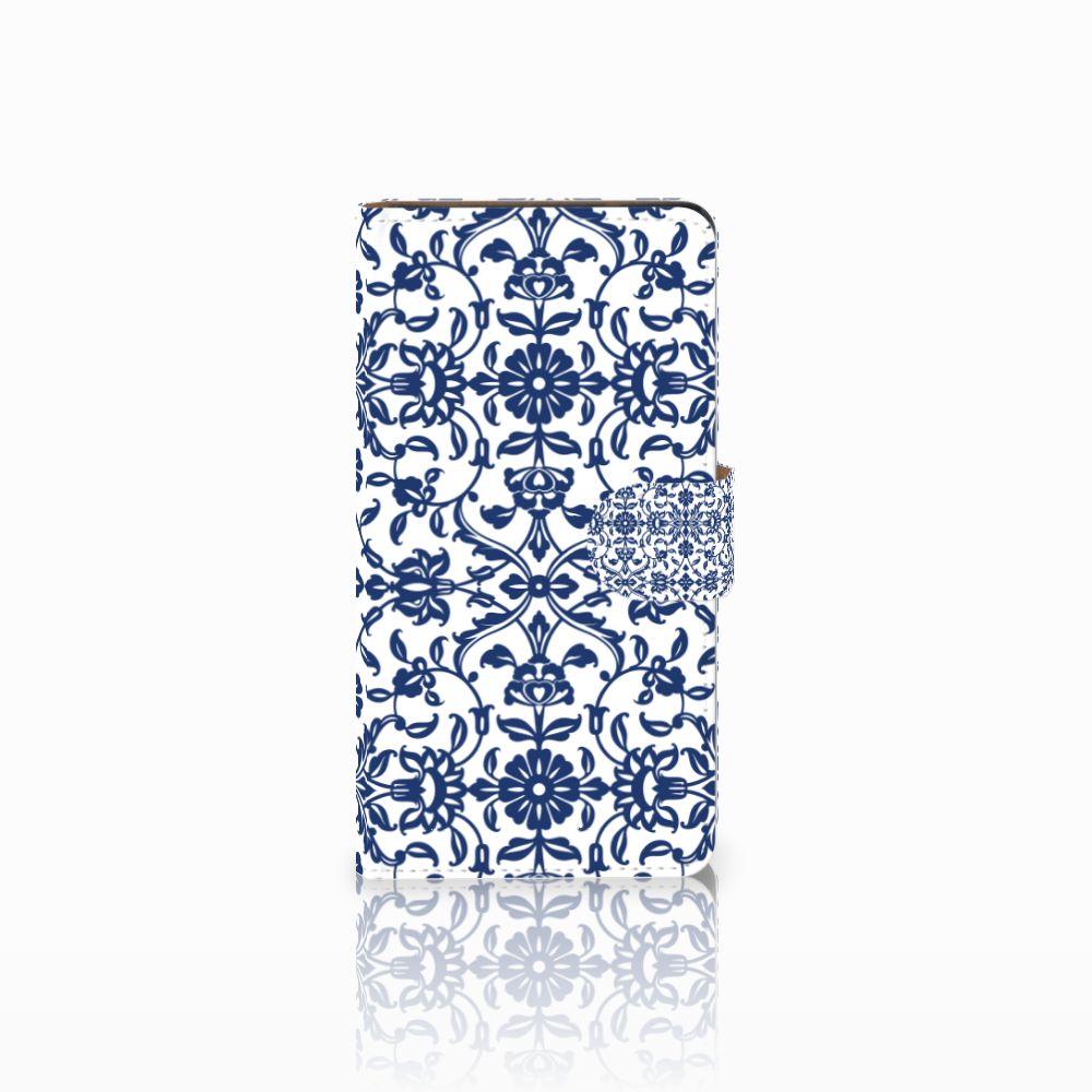 Huawei Ascend G700 Boekhoesje Flower Blue