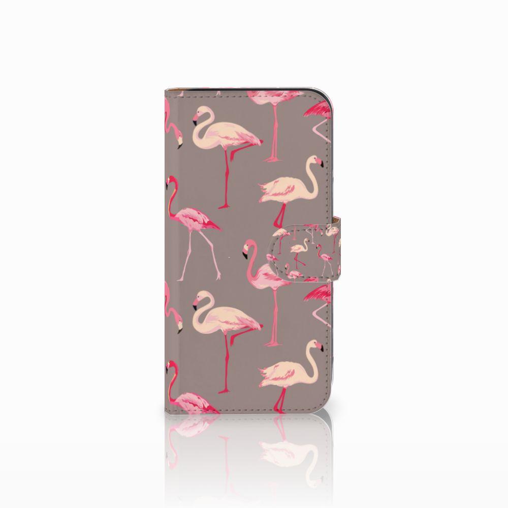 Samsung Galaxy E5 Uniek Boekhoesje Flamingo